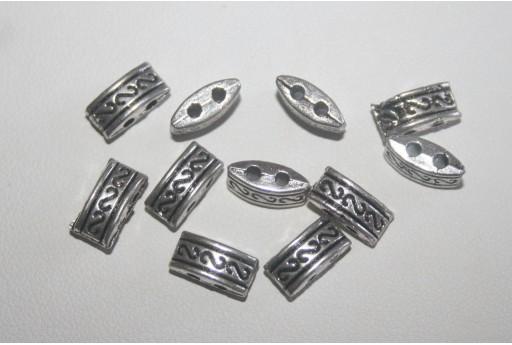 Distanziatori Argento Tibetano 5x10mm - 18pz