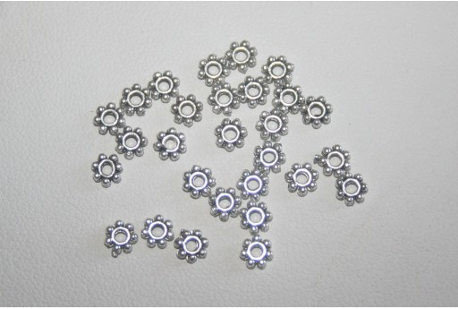 80 Rondelle Argento Tibetano 4,5mm TI133