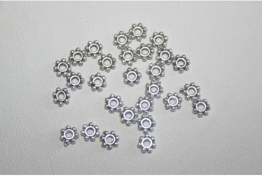 Rondelle Argento Tibetano 4x1,5mm - 120pz