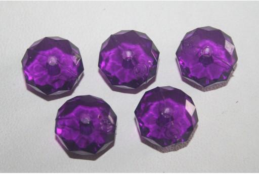 30 Perline Acrilico Trsparente Viola