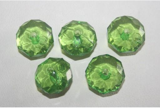 Perline Acrilico Trasparente Verde Rondella 7x12mm - 30pz
