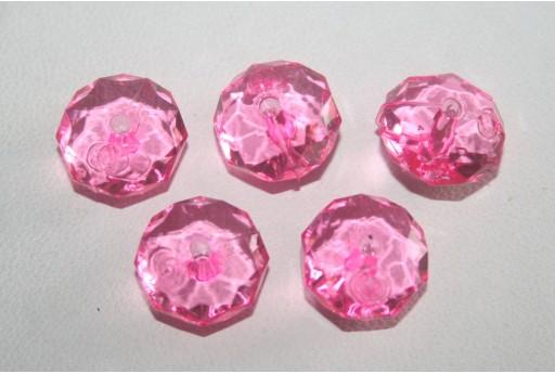 30 Perline Acrilico Trasparente Rosa Confetto
