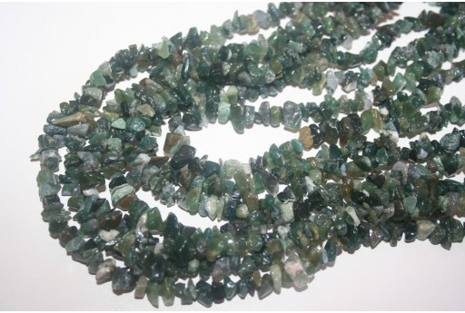 Agate Moss Beads Chips 5x8mm - 220pz