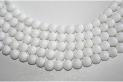 Mashan Jade Beads White Sphere 8mm - 48pz