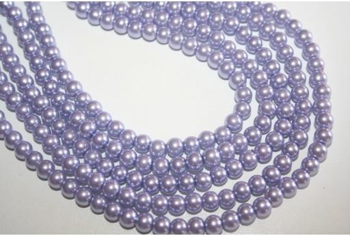 Perle in Vetro Lavanda Sfera 6mm - Filo 68pz