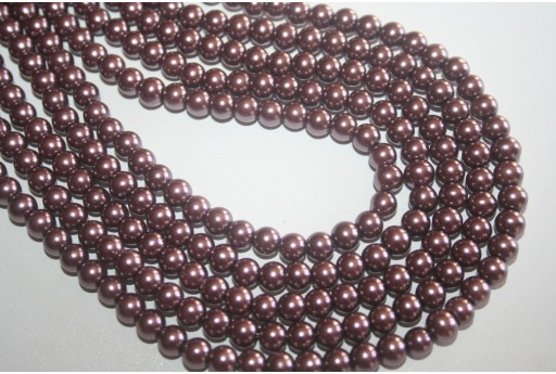 Glass Beads Light Brown Sphere 6mm - Filo 68pz