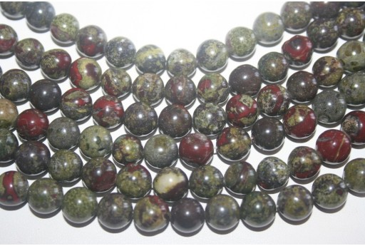 Bloodstone Beads Sphere 10mm - 38pz
