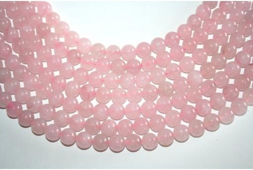 Filo 38 Pietre Quarzo Rosa Sfera 10mm QURO2