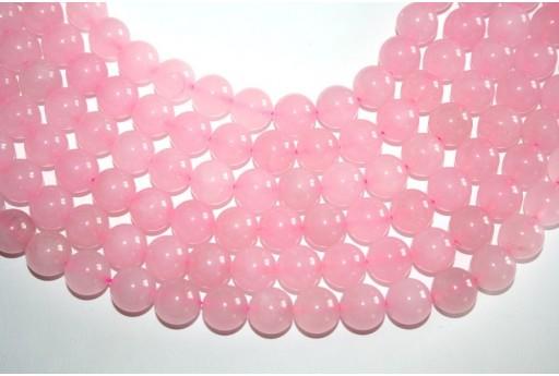 Filo 32 Pietre Quarzo Rosa Sfera 12mm QURO3