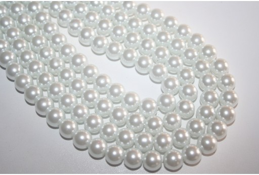 Glass Beads White Sphere 10mm - Filo 44pz