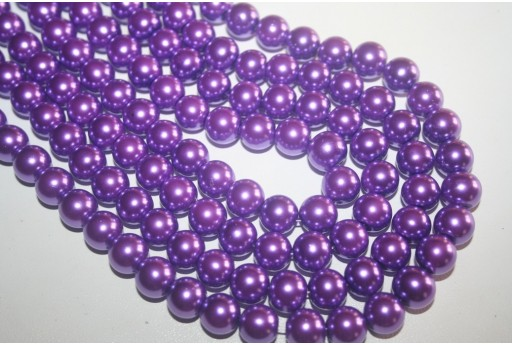 Glass Beads Violet Sphere 10mm - Filo 44pz