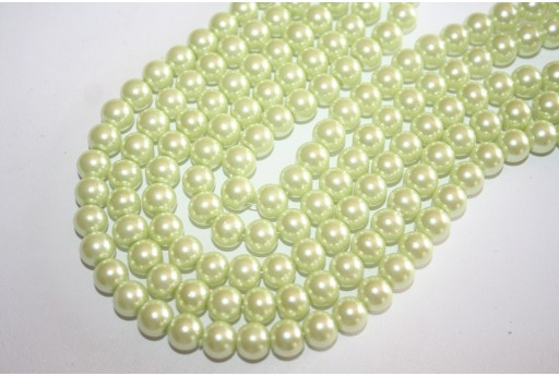 Glass Beads Light Lemon Sphere 8mm - Filo 52pz