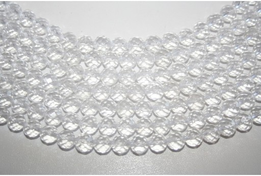 Crystal Beads Faceted Sphere 8mm - 3pz