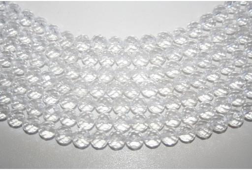 Pietre Cristallo Sfera Sfaccettata 8mm - 3pz