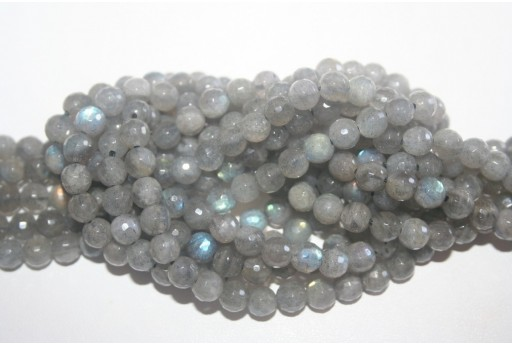 Labradorite Beads Faceted Sphere 6mm - 66pz
