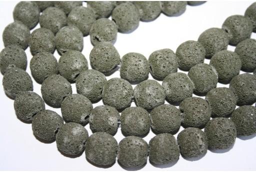 Pietre Lava Verde Scuro Sfera 14mm - 3pz