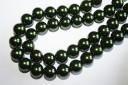 Perline in Vetro Verde Scuro Sfera 14mm - Filo 30pz
