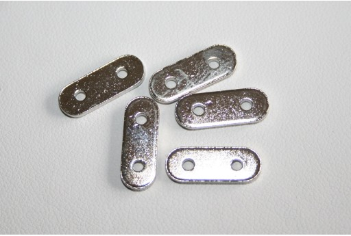 Nickel Plated 2 Holes Spacer Bars - 3pcs