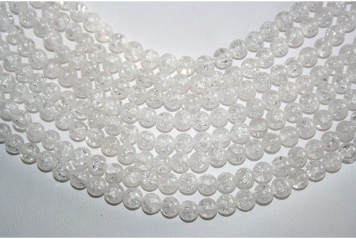 Cracked Rock Crystal Beads Sphere 6mm - 64pz