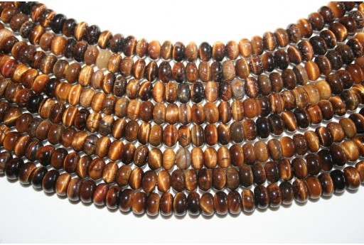 Tiger's Eye Rondelle Bead Strand 66pcs 6x9mm OCDT13