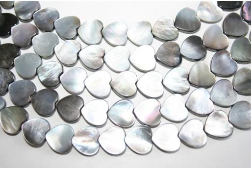 Filo 32 Pietre Shell Cuore 12x12mm SH26