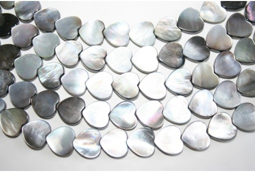 Pietre Shell Cuore 12x12mm - 3pz