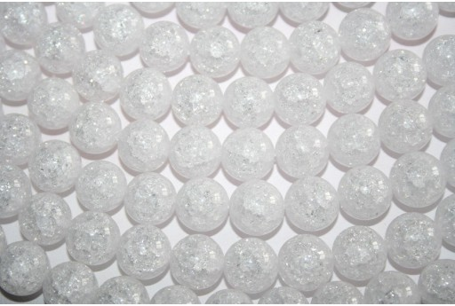 Cracked Rock Crystal Beads Sphere 12mm - 32pz
