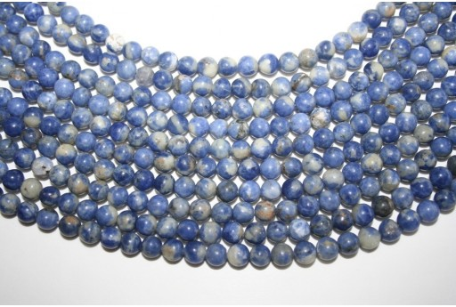Sodalite Beads Sphere 6mm - 64pz