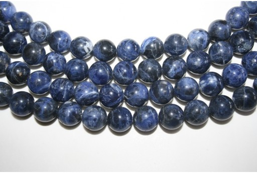Sodalite Beads Sphere 12mm - 2pz