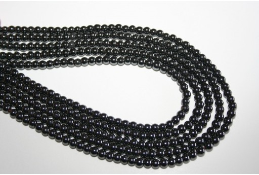 Hematite Beads Sphere 4mm - 100pz