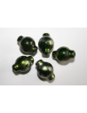 Acrylic Beads Silver Green Ampule 17x12mm - 14pz