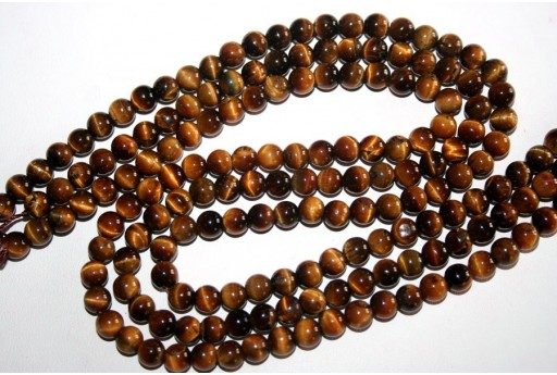 Tiger's Eye Round Bead Strand 64pcs 6mm OCDT1