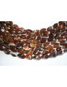 Filo 24 Pietre Agata Brown Oliva Twist 8x16mm AG122