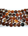 Agate Beads Brown Pastille 18mm - 20pz