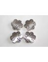 Tibetan Silver Flower Beads 13,5x13mm - 4pcs