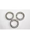 Tibetan Silver Ring Connectors 17mm - 4pcs
