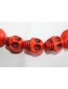 Faux Turquoise Skull Bead Strand 23x30mm 13pcs TUR7