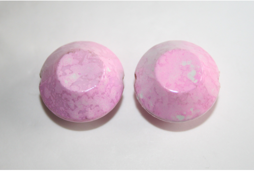 Acrylic Beads Pink Double Cone 20x14mm - 10pz