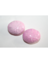 Acrylic Beads Pink Inlaid Oval 21x17mm - 8Pz