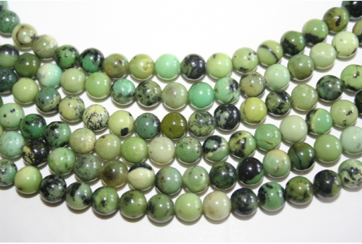 Chrysoprase Beads Sphere 8mm - 46pz
