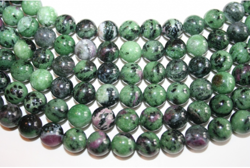 Round Zoisite Beads 12mm - 2pcs