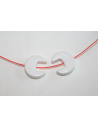 Chrome-Magnesite Beads White Interlocking Circle 10mm - 36pz