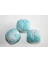 Acrylic Beads Turquoise Inlaid Oval 16x15mm - 8Pz