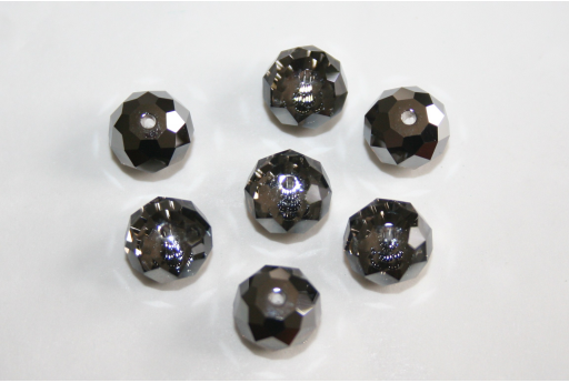 Briolette Swarovski 8mm Silver Night - 2pz