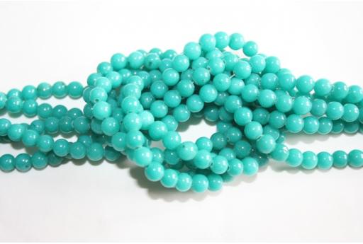 Mashan Jade Beads Turquoise Sphere 6mm - 64pz