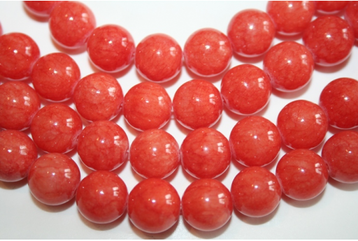 Mashan Jade Beads Orange Sphere 12mm - 32pz GI191