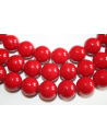 Mashan Jade Beads Red Sphere 14mm - 28pz