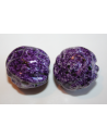 Acrylic Beads Violet Sphere Rock 22mm - 4Pz