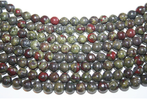 Bloodstone Beads Sphere 8mm - 48pz
