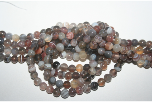 Botswana Agate Beads Sphere 6mm - 5pz